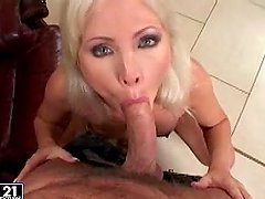 Kathy Anderson gives a terrific blowjob and gets her ass stunningly fucked