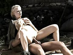 Horny Big Breasted Blonde Tarra White Having Anal Sex In Uniform