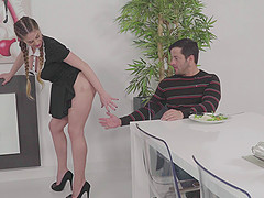 Huge fake tits Euro girl fucked hard by his big dick