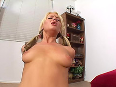 Horny natural tits pigtails dame screams when logged hardcore