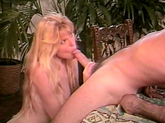 Long hair blonde refining massive dick with stunning bowjob