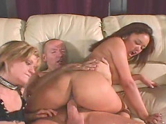 Annie Cruz and Tyla Wynn play with dildos and a fat cock