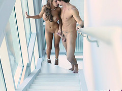 Busty Madison Ivy bangs a naughty friend like her life depends on it