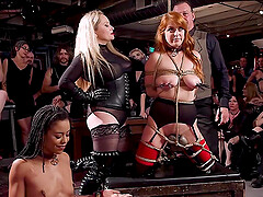 Penny Pax abused along with her slutty friends in bondage