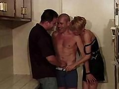 Sexy Blonde Has a Lot Of Fucking Fun in a Hot Bisexual Threesome