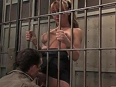 Steven Sweat's lawyer Danielle Foxxx fucks him in detention center