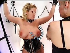 Busty Blond Tied up and Dominated