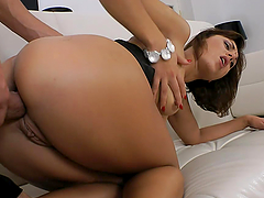 Slim Galina Galkina gets her mouth and ass fucked