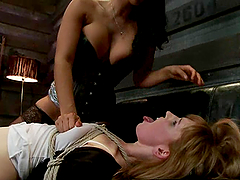 Redhead Mallory Mallone gets fisted, spanked and toyed