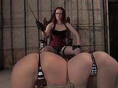 Two stunning blondes get tortured by nasty Claire Adams
