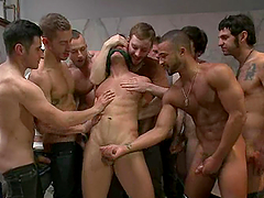 Mean Gay Guys Grab A Boy And They Make Him Fuck All Of Them
