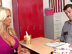 Alura Jenson is fucked by the school security guard after class