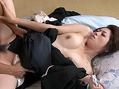 Asian babe likes sex toys inside her