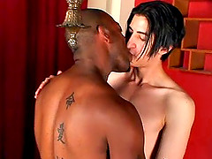 Kamrun and Max Pfeiffer make interracial gay love indoors
