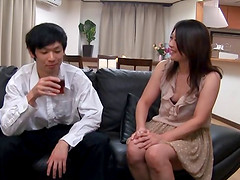 Japanese MILF takes a hot break after cleaning the flat