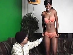 Young Ebony Girl Gets Fucked On The Couch