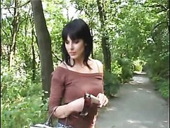 Hot Euro Amateur Brunette Sucking and Fucking In Public For Cash