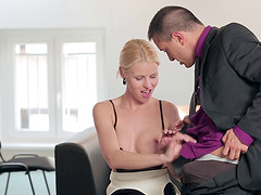 A meeting at work turns into a boning in the boardroom