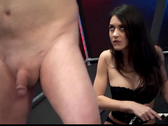 Wild oldyoung fuck turns into kinky femdom playing