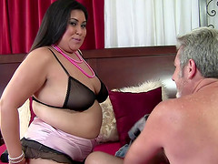 BBW Asian shows that she still loves to get on top and ride