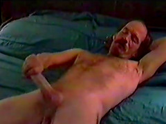 Mature Amateur Gene Jerks His Cock
