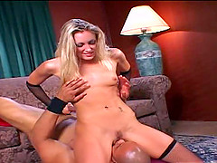 Sassy blonde hooker Angel gets her orgasmic pink slit pounded hard