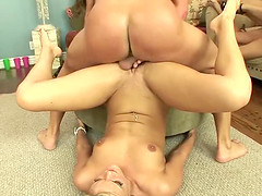 Flexible hot ass maiden pounded hardcore in an orgy group sex
