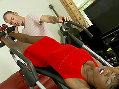 Ana Foxxx is a hot black bitch with a deliciously hairy pussy
