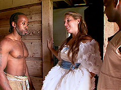 Nikki is ready to take the black guy's cock deep into her beaver
