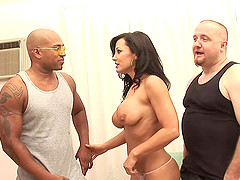 Handsome men attack a cock craving woman for an amazing sex session