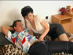 Fascinating doggystyle hammering awarded to cute mature dame