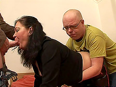 Amateur guys will give the sexy Estel the cocks that she needed