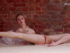 Inviting Russian ballerina and the beauty of her shaved pussy