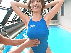 Fucking Akari Asahina while she is still wearing her swimsuit
