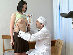 Rita spreads to have her pussy examined but she also gets dicked deep