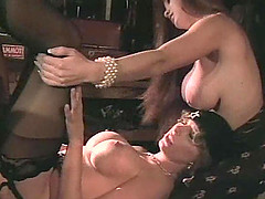 Fake tits Asia Carrera in stockings enjoying dick missionary in ffm