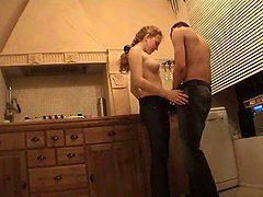 Kirill And Viktoria Fucking On The Kitchen Floor