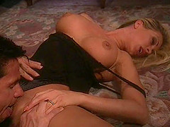 Asia Carrera is horny blonde with nice tits who likes to fuck