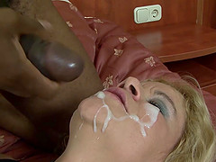 Old woman rough anal cumshot interracial fuck big cock