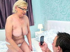 Fine tits granny smashed hardcore while yelling out of pleasure