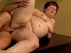 Mature granny Judy smashed hardcore doggystyle indoors