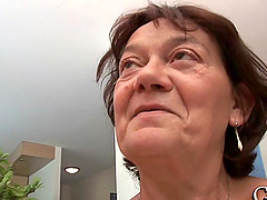 Elderly woman Livia is in need of a handsome guy's dick