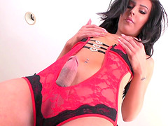 Chanel Santini is a gorgeous shemale who loves sex toys