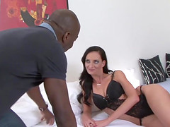 Cuckold licks pussy watches wife fucked by black man
