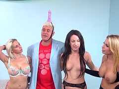 Rachel Roxxx and Britney join a hot friend and a randy man for a game
