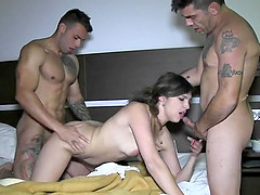 Camil y Marc got naked impatient to have a threeway with one more dude