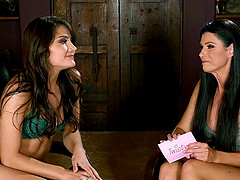 Stunning Adria Rae gets interviewed by gorgeous India Summers