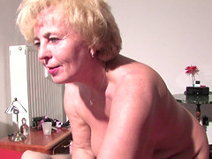 Granny tight anal smashed hardcore in threesome porn