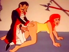 Funny retro porn cartoon