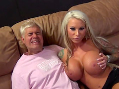 Perfect blonde has big tits